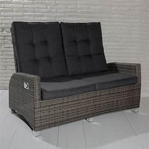 Polyrattan 2 Sitzer : 2 sitzer gartensofa barcelona grau mix loungesofa sofa gartenm bel living sofa polyrattan ~ Whattoseeinmadrid.com Haus und Dekorationen