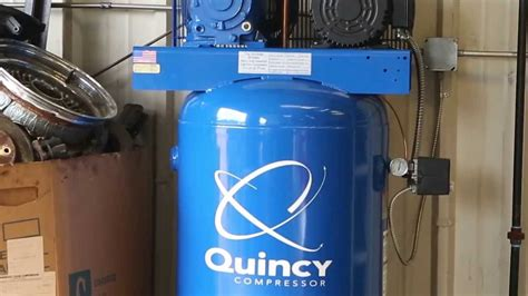 quincy compressor reciprocating air compressor qt 5 youtube