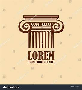 Column Logo Design Template Corporate Icon Stock Vector ...