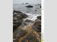 Rocky Coastline Landscape Long Exposure Royalty Free Stock