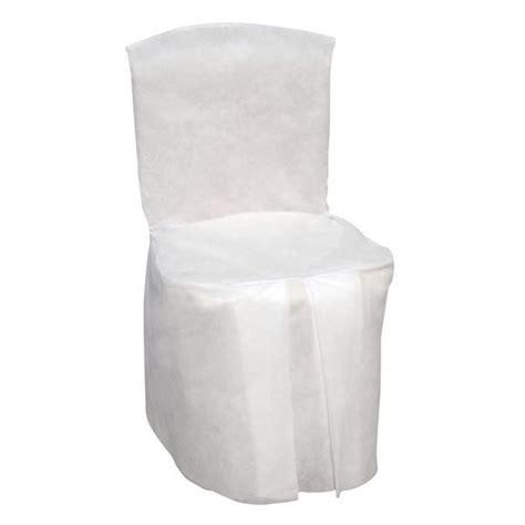 housse de chaise blanche housse de chaise mariage blanche jetable integrale badaboum