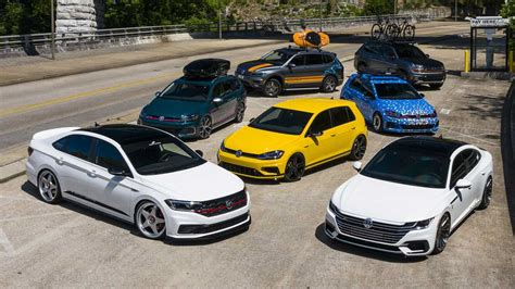 vw unveils fleet  tricked  cars  sowo