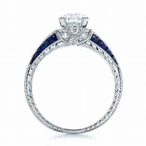 diamond and blue sapphire engagement ring 100390 With wedding rings with sapphires and diamonds