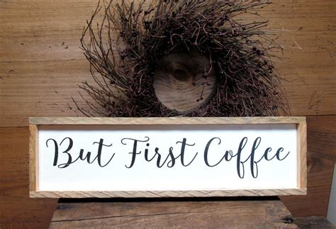 Subscribe and give the video a thumbs up if you did! But First Coffee, Wooden Coffee Sign | Coffee signs, But first coffee, Wooden signs