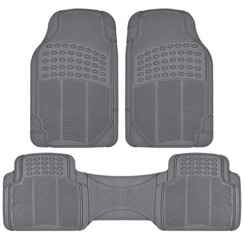floor mats for suv suv rubber floor mats 3 row w cargo mat all weather trimmable gray ebay