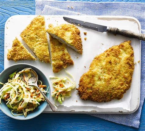 chicken schnitzel  coleslaw bbc good food