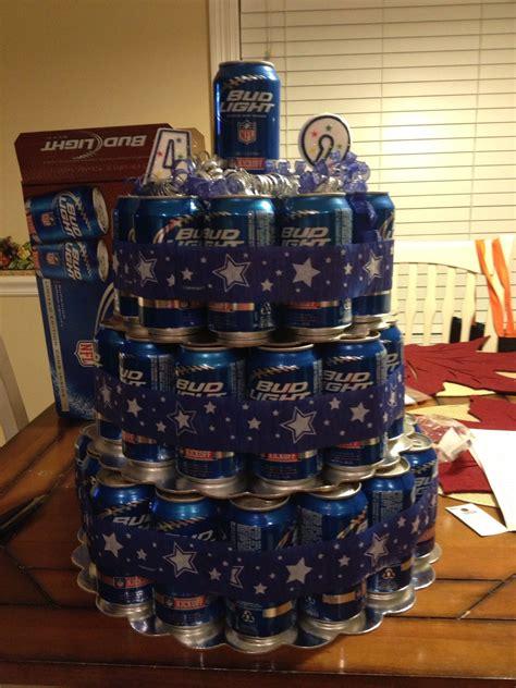 beer  cake  dallas cowboys ribbon