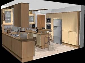 Plan De Cuisine 3d : plan de cuisine moderne meuble de cuisine moderne cbel ~ Nature-et-papiers.com Idées de Décoration