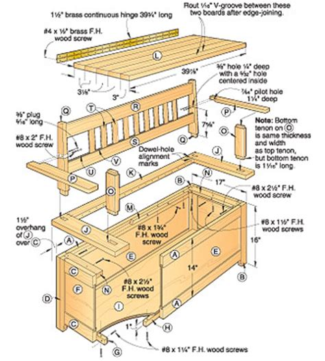 woodwork woodworking plans bench storage  plans