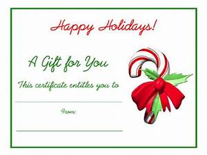 free holiday gift certificates templates to print With holiday gift certificate template free printable