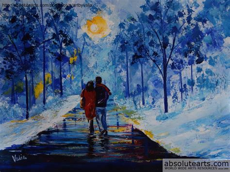 valerie curtiss artwork winter walk original painting