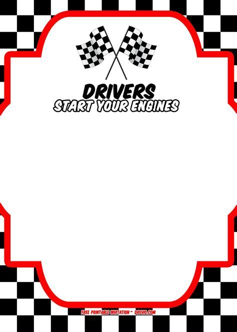 printable race car invitation templates