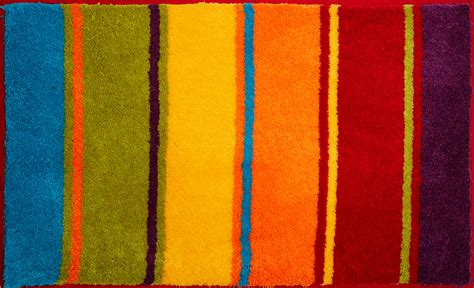 Bathroom Rugs Summertime, Colorful Grund
