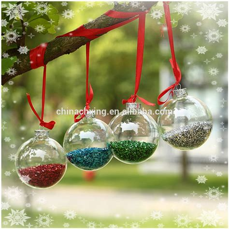 100 wholesale clear red color glass christmas ball