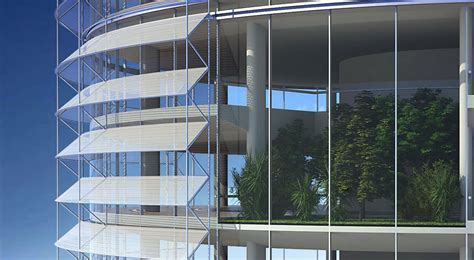 innovative solar shading device  reduce high rise