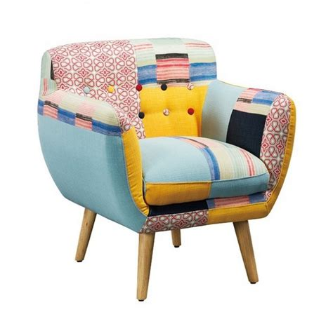 fauteuil design nordique patchwork