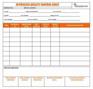 Quality control check sheet template for Quality control check sheet template