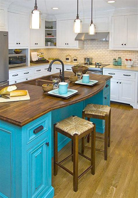 kitchen island blue colorful kitchen island ideas eatwell101 1844