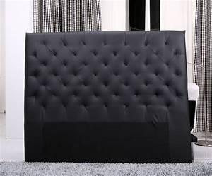 Tete De Lit Noire 140 : tete de lit capitonnee king 140 160cm simili noir t te de lit topkoo ~ Teatrodelosmanantiales.com Idées de Décoration