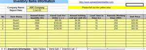 Warehouse Inventory Management Spreadsheet by Inventory Tracking Excel Template