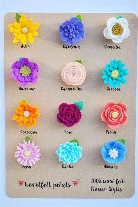 felt sheet craft ideas custom single felt flower magnet 100 wool felt by 4458