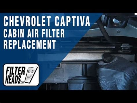 replace cabin air filter  chevrolet captiva