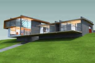spectacular house plans for hillsides hillside house thornton archinect