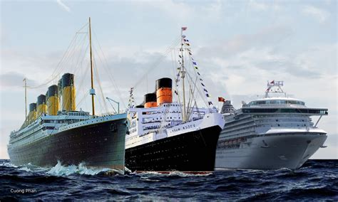titanic compared to modern cruise ships titanic vs two ships by kanetakerfan701 on deviantart