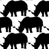 colorful fabrics digitally printed  spoonflower rhino