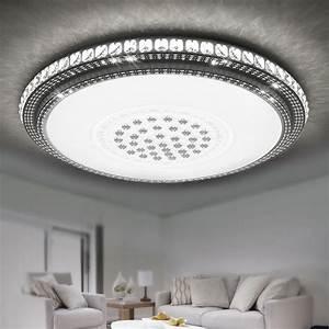 Led Deckenlampe Rund : 36w led kristall deckenleuchte rund wohnzimmer flurleuchte sternenhimmel wei ebay ~ Whattoseeinmadrid.com Haus und Dekorationen