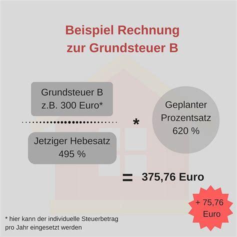Wie Berechnet Sich Grundsteuer by Grundsteuer Mieter Berechnen Nebenkosten Grundsteuer