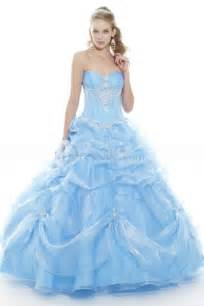 brautkleid blau light sky blue quinceanera dress with sweetheart neckline cowl skirt neckline sweet 16