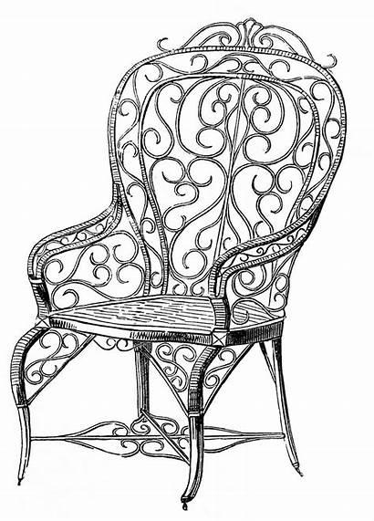 Chair Clip Garden Wicker Fairy Graphics Enlarge