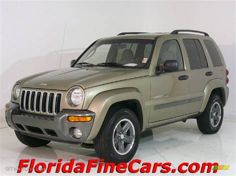 dark green jeep liberty 2004 cactus green pearl jeep liberty sport 543824