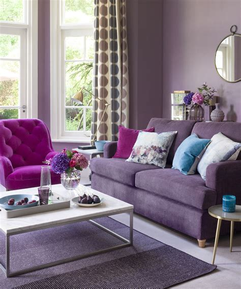 Purple Living Room Ideas  Ideal Home. Modern Eat In Kitchen. Red And Turquoise Kitchen. Modern Kitchen Tiles Backsplash Ideas. Vermont Country Kitchen. Simple Modern Kitchen Cabinets. Kitchen Corner Unit Storage Solutions. Modern Kitchens Photos. Country French Kitchen Decor