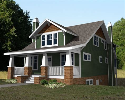 story craftsman bungalow house plans  story