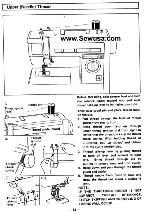 Brother Sewing Machine Threading Diagram