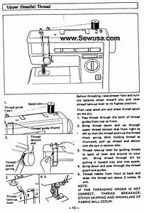 Brother Vx 940 950 Sewing Machine Threading Diagram
