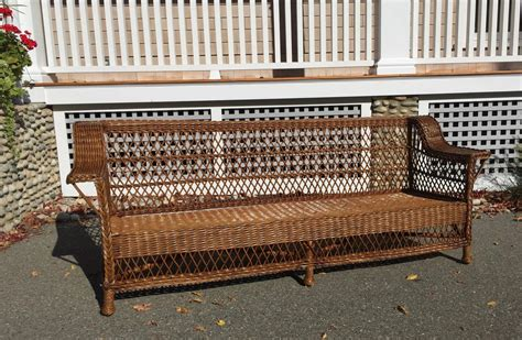 Wicker Loveseat For Sale by Antique Bar Harbor Wicker Sofa For Sale At 1stdibs