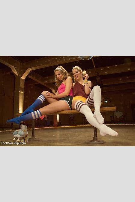 SexPreviews - Lia Lor and girlfriend seduce Mark in a roller disco making him worship their ...