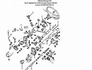 1990 Ford F250 Steering Column Tilt  Need A Good Internal Diagram To Locate Where The Large