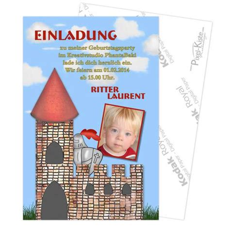 individuell gestaltete einladung kindergeburtstag ritter