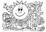 Coloring Nature Pages Around Popular Drawing sketch template