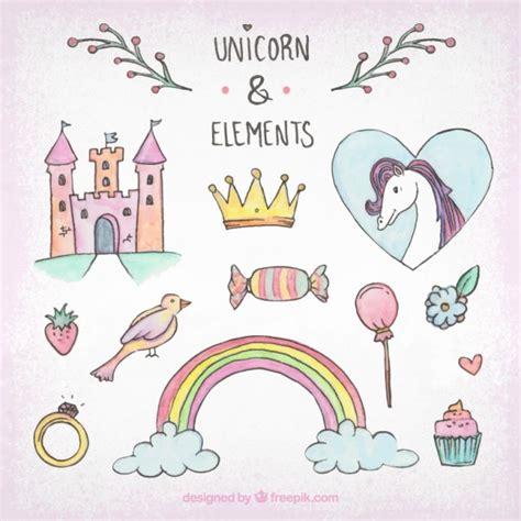 pack de bocetos de unicornio  elementos descargar