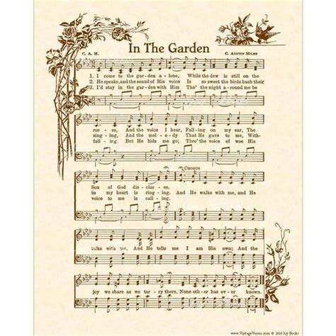 in the garden hymn in the garden hymn christian home decor vintageverses