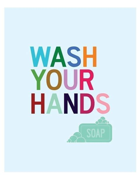 Items Similar To Wash Your Hands  Bathroom Wall Art Print