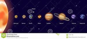 Vector Illustration Of Solar System Stock Vector
