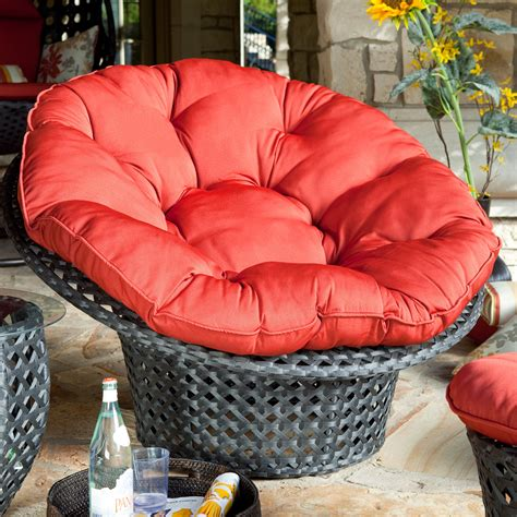 Papasan Chair Outdoor by All Weather Wicker Outdoor Papasan Chair At Hayneedle