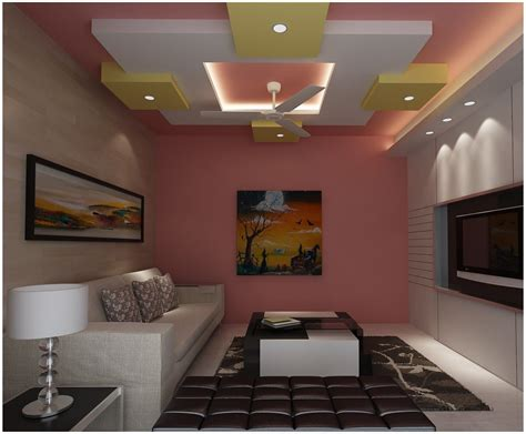 latest false designs  living room bed room