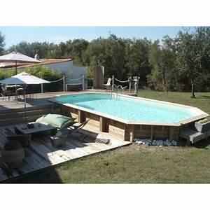 Piscine Bois Ubbink : piscine bois ocea ubbink 470x860cm h 130cm liner bleu ~ Mglfilm.com Idées de Décoration
